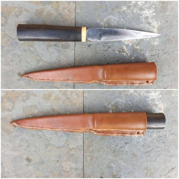 Wikinger Messer mit Futteral