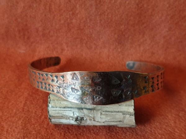 Wikinger - Armreif, Bronze, punziert