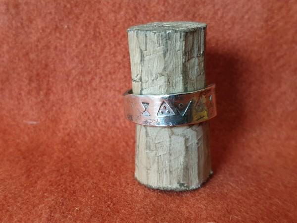 Wikinger - Ring, Silber, punziert