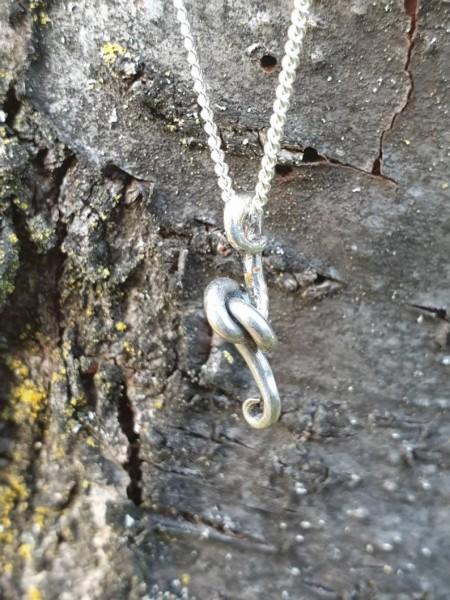 """Halskette """"Knoten der ewigen Liebe, echtes Silber"""